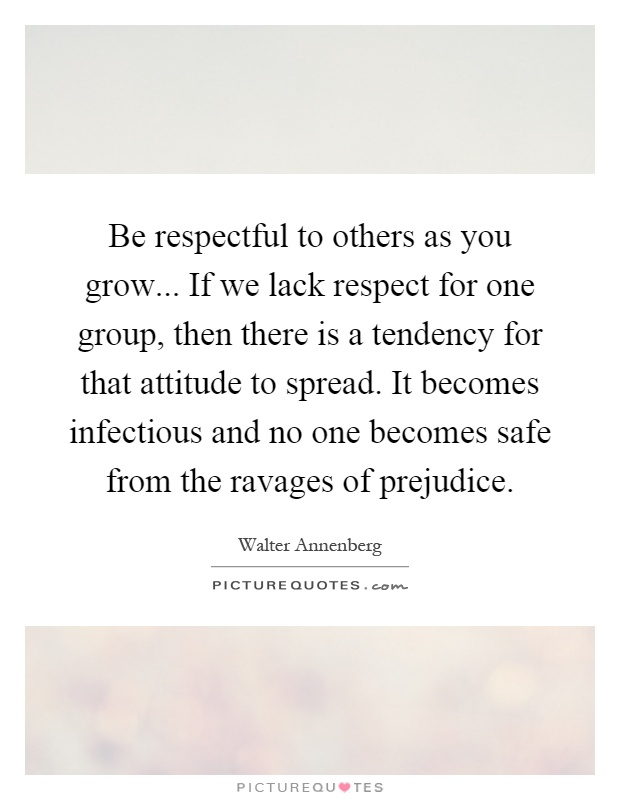 lack of respect for others