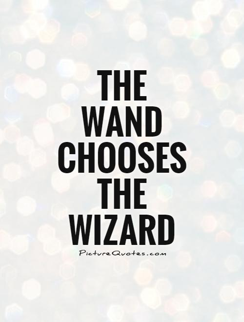 Quote Wizard The Wand Chooses The Wizard  Picture Quotes