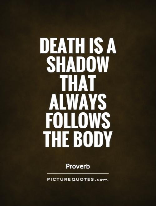 Death is a shadow that always follows the body Picture Quote #1