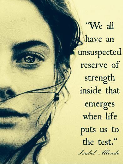 We all have an unsuspected reserve of strength inside that emerges when life puts us to the test Picture Quote #1