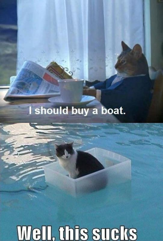 I should buy a boat. Well this sucks Picture Quote #1