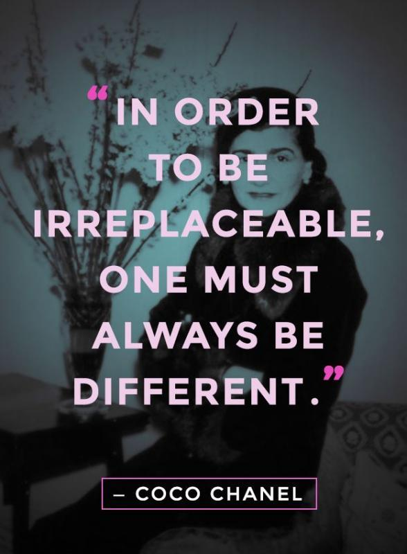 In order to be irreplaceable one must always be different Picture Quote #1