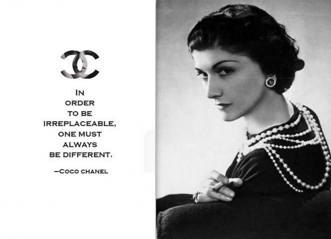In order to be irreplaceable one must always be different Picture Quote #2