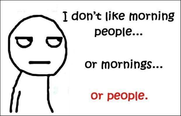 I don't like morning people. Or mornings. Or people Picture Quote #1