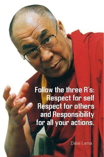 Follow the three R's: Respect for self, respect for others, and responsibility for all your actions Picture Quote #1