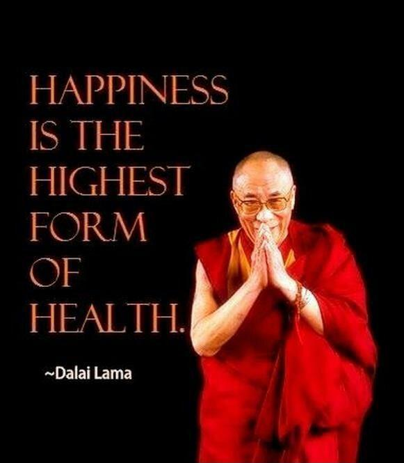 Happiness is the highest form of health Picture Quote #1