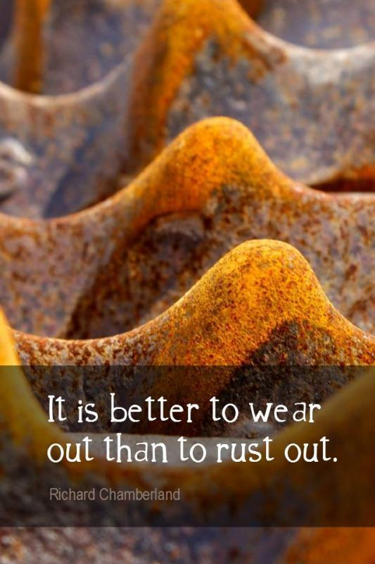 It is better to wear out than to rust out Picture Quote #1