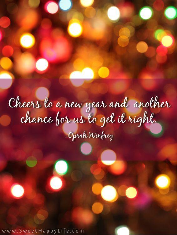 Cheers to a new year and another chance for us to get it right Picture Quote #2