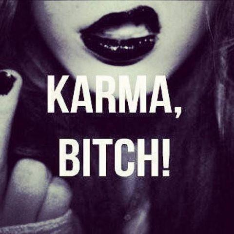 Karma, bitch Picture Quote #1