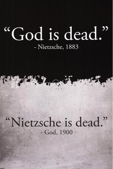 God is dead. Nietzsche is dead Picture Quote #1