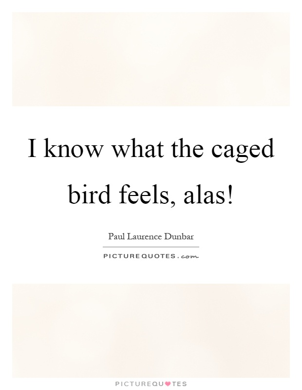 I know what the caged bird feels, alas! Picture Quote #1