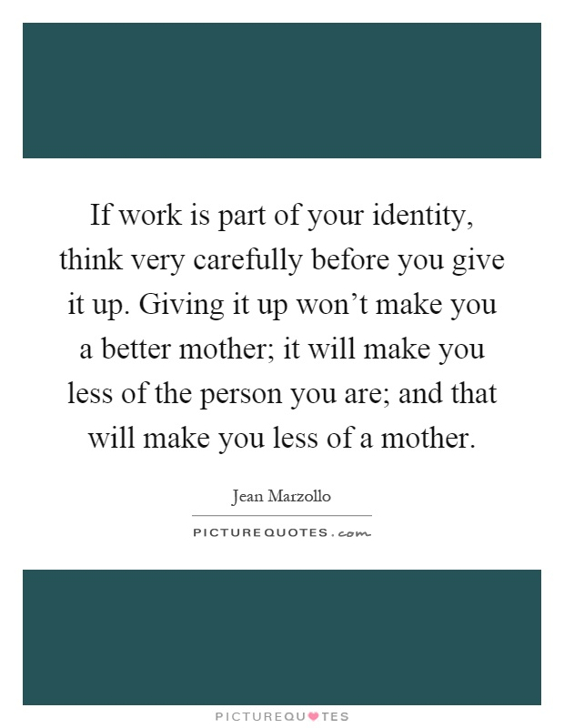 your work is your identity essay