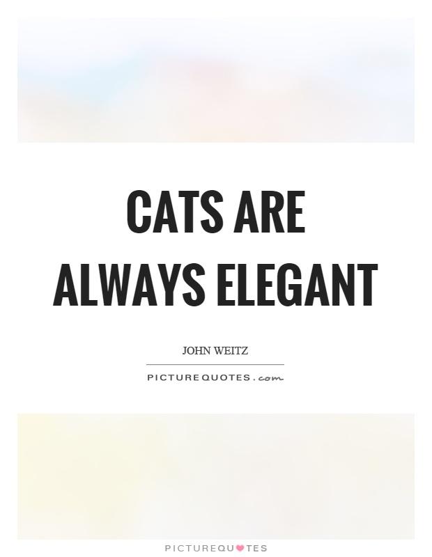 Cats are always elegant Picture Quote #1