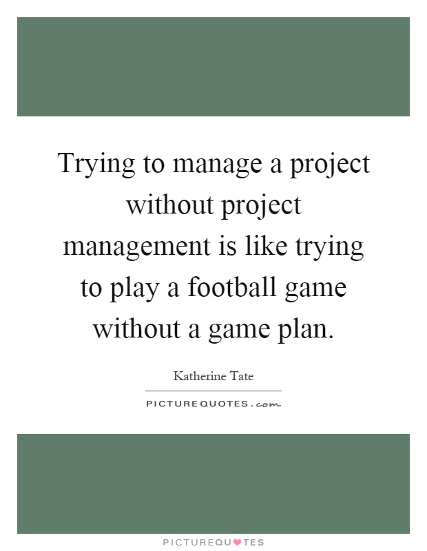 trying to manage a project without project management is