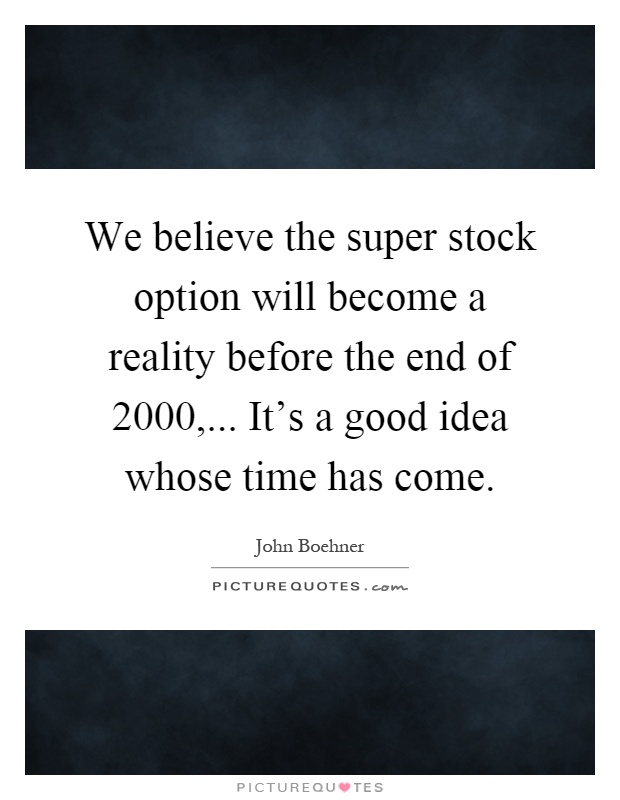 Quotes on stock options