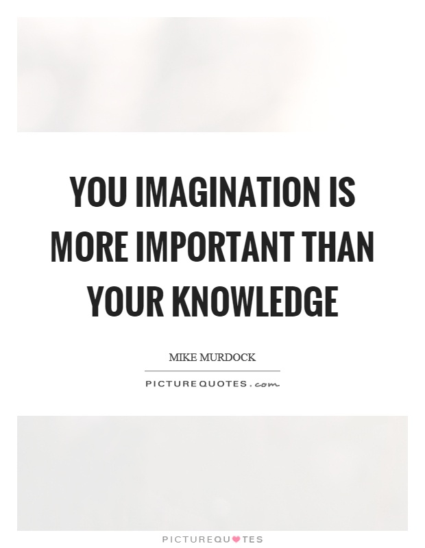 imagination is important than experience essay