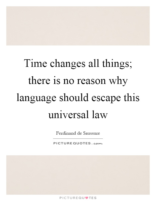 Time changes all things; there is no reason why language should escape this universal law Picture Quote #1
