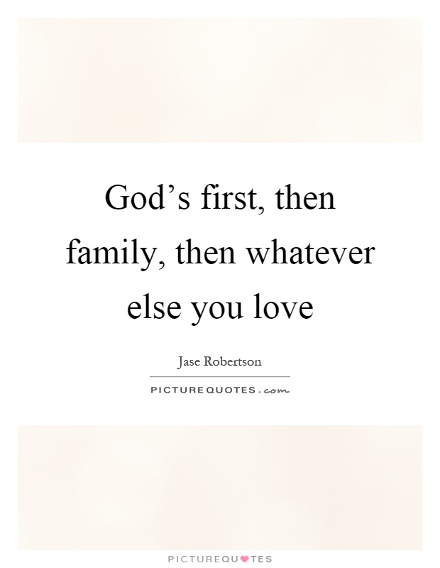 god first then family