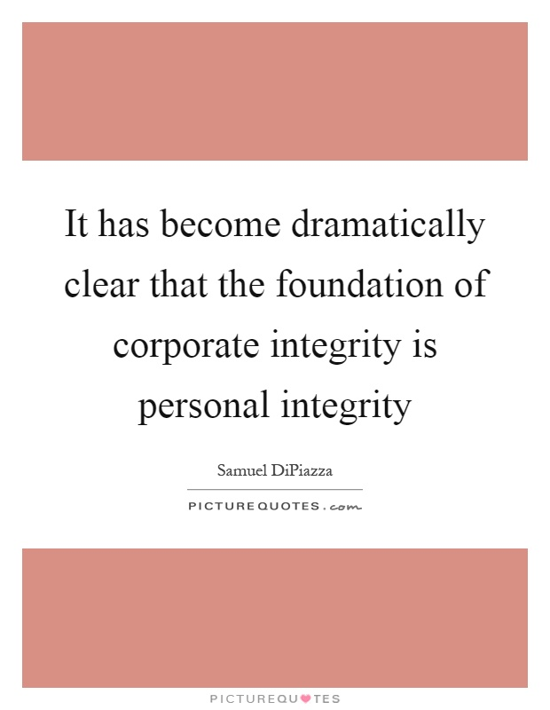 essays on personal integrity Introduction leaders in today's organizations are confront with the numerous challenges of creating and sustaining major organizationa.