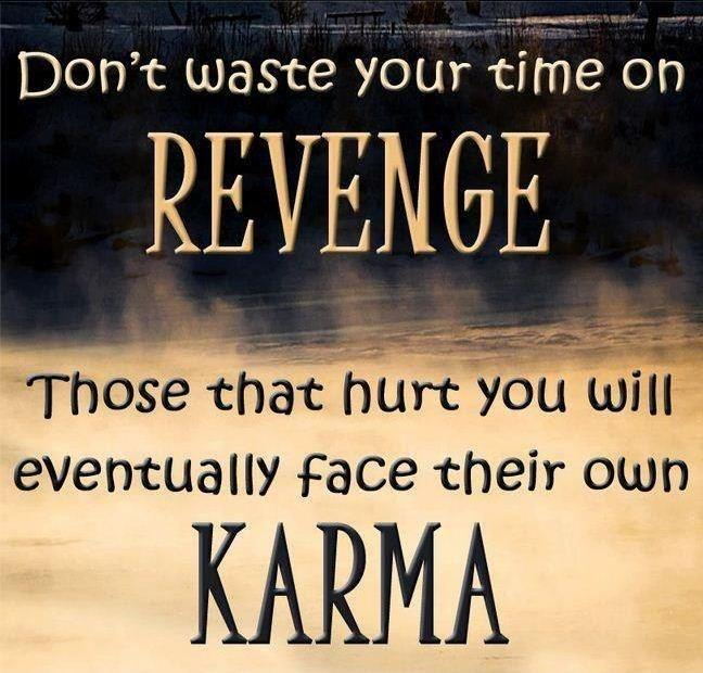 Don't waste you time on revenge. Those who hurt you will eventually face their own karma Picture Quote #2