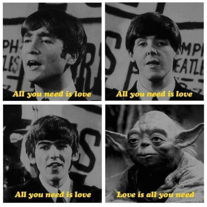 All you need is love, all you need is love, all you need is love, love is all you need Picture Quote #1