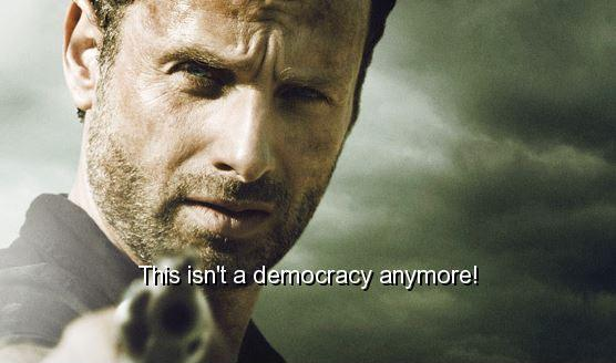 This isn't a democracy anymore Picture Quote #1