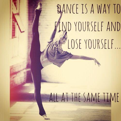 Dance is a way to find yourself and lose yourself all at the same time Picture Quote #1
