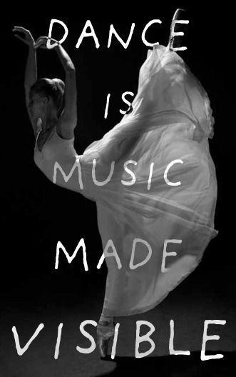 Dance is music made visible Picture Quote #1