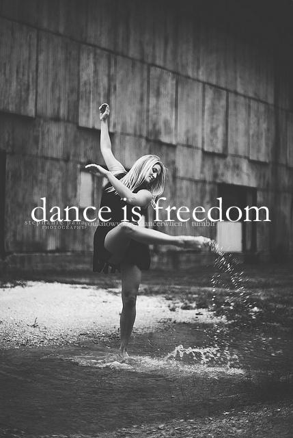 Dance is freedom Picture Quote #1