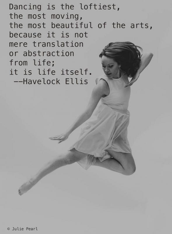 Dancing is the loftiest, the most moving, the most beautiful of the arts, because it is no mere translation or abstraction from life; it is life itself Picture Quote #1