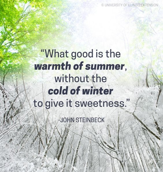 What good is the warmth of summer, without the cold of winter to give it sweetness Picture Quote #2