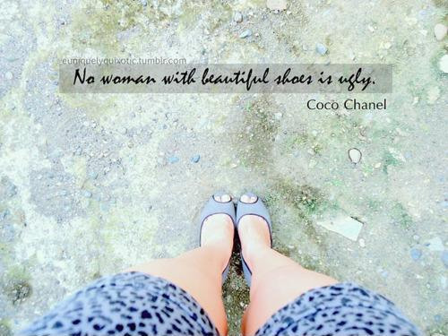No woman with beautiful shoes is ugly Picture Quote #1