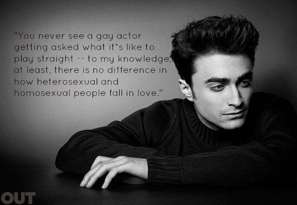 You never see a gay actor getting asked what it's like to play straight - to my knowledge, at least, there is no difference in how heterosexual and homosexual people fall in love Picture Quote #1