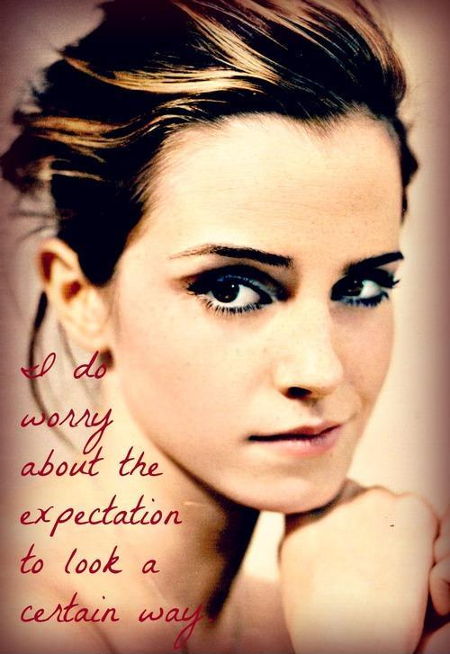 I do worry about the expectation to look a certain way Picture Quote #1