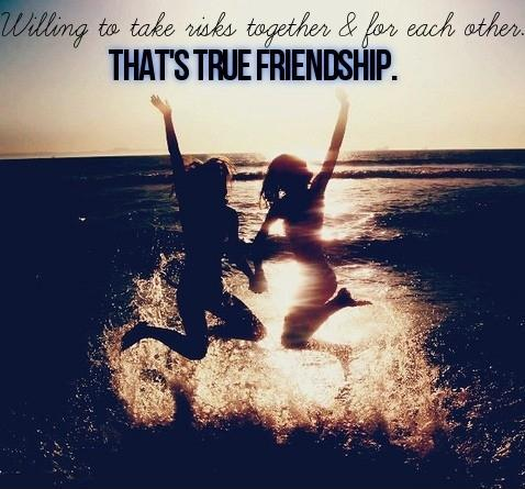 Willing to take risks together and for each other. That's true friendship Picture Quote #1