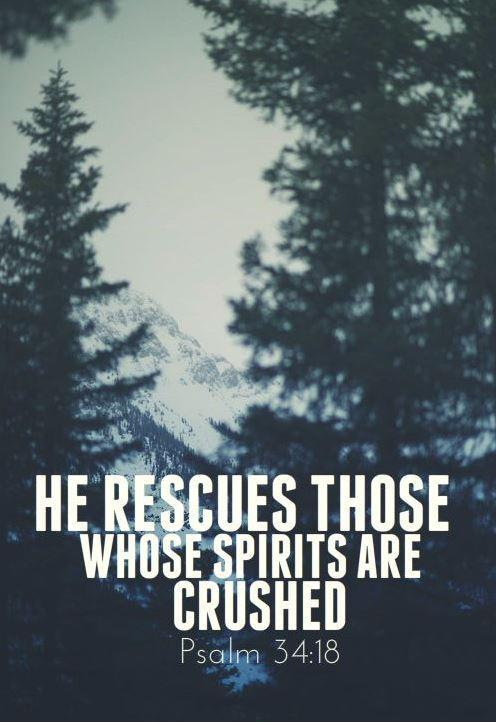He rescues those whose spirits are crushed Picture Quote #1