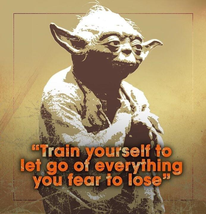Train yourself to let go of everything you fear to lose Picture Quote #1