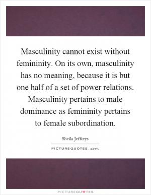 feminism and the degradation of man
