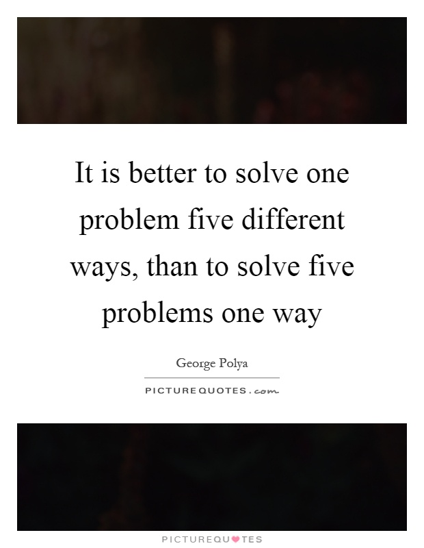 Best Way To Solve Problems