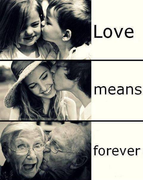 Love means forever Picture Quote #1