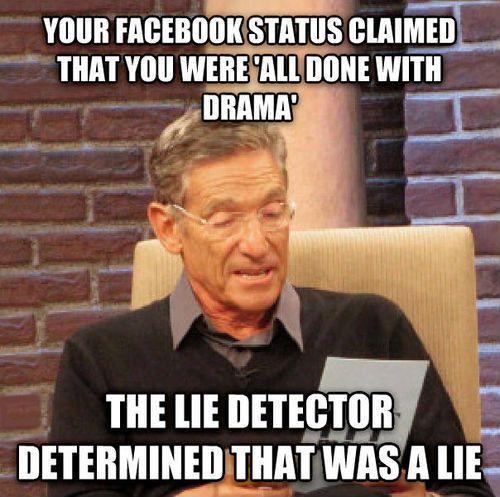 Your Facebook status claimed you were