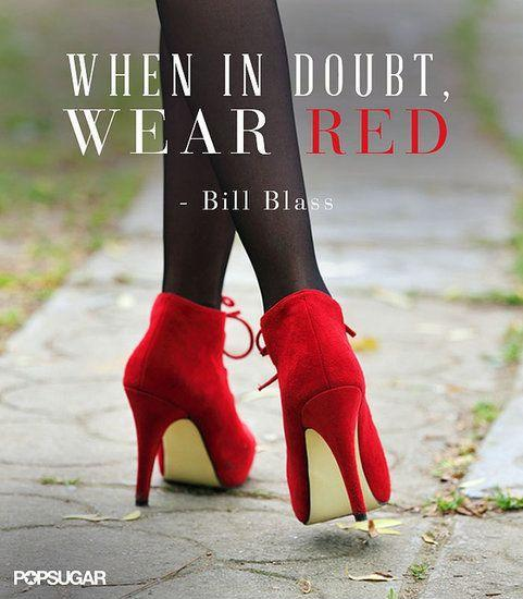 When in doubt wear red Picture Quote #1