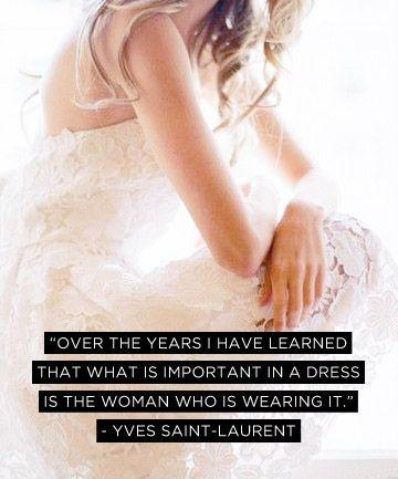 Over the years I have learned that what is important in a dress is the woman who is wearing it Picture Quote #2