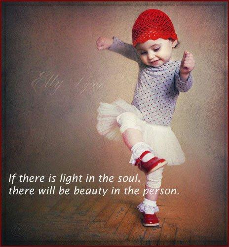 If there is light in the soul, there will be beauty in the person Picture Quote #1