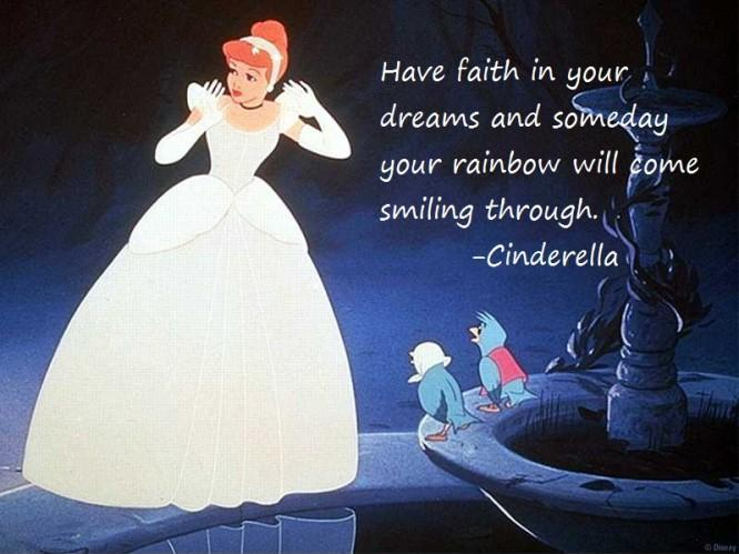 Have faith in your dreams and someday your rainbow will come smiling through Picture Quote #1