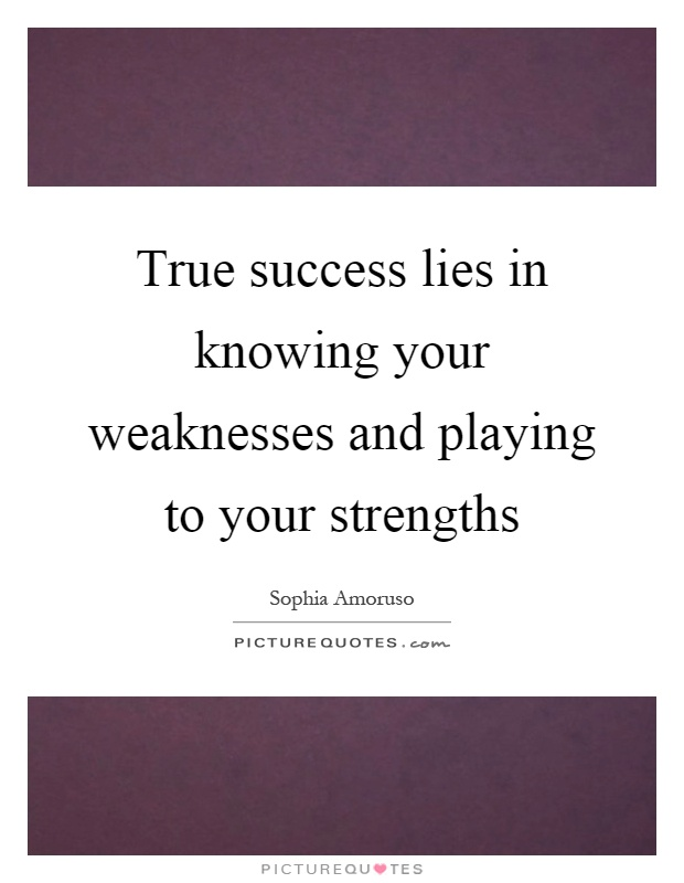 what are your weaknesses and strengths