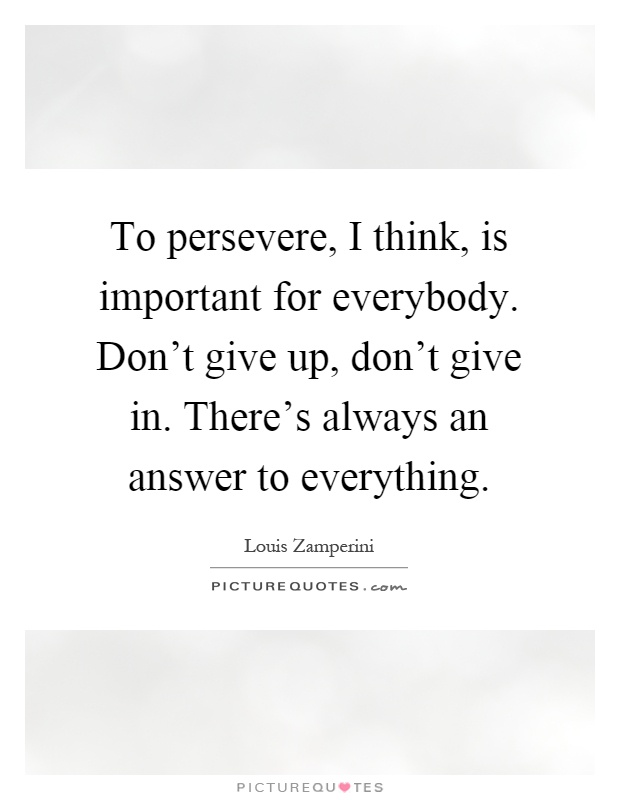 an analysis of the importance of perseverance in success Perseverance is very important for all and through perseverance and hard work finds success as and established through a comparative analysis of these.