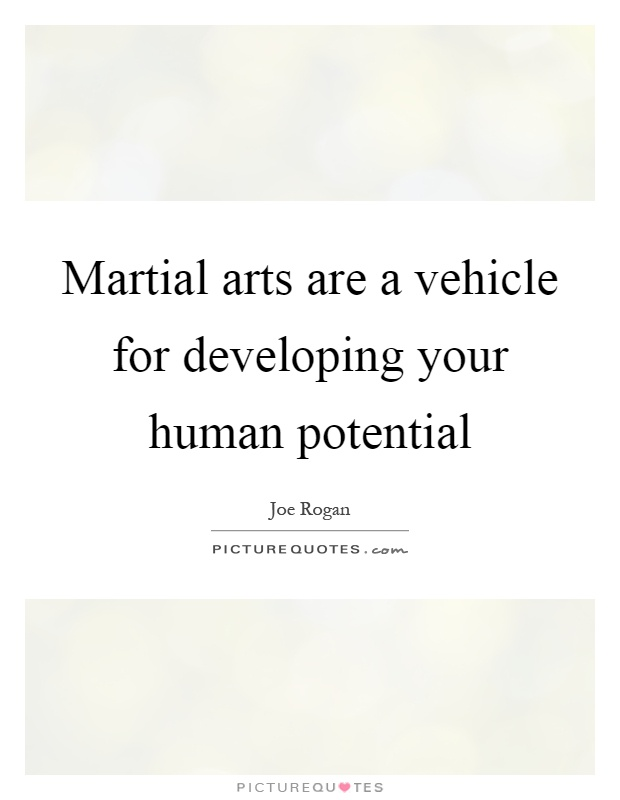 Martial arts are a vehicle for developing your human potential Picture Quote #1