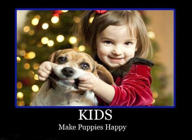 Kids make puppies happy Picture Quote #1