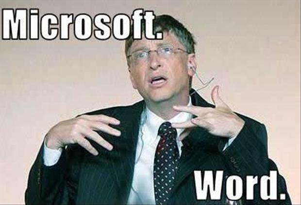 Microsoft. Word Picture Quote #1